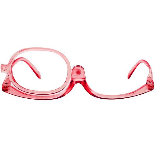 Óculos de maquiagem - Transparent Red
