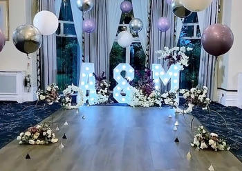 Balloons and Light Up LED Letters Hire