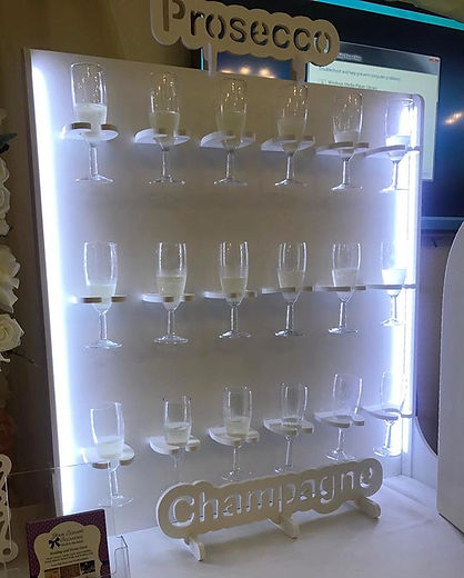 champagne wall 🥂 🍾 and donut wall 🍩