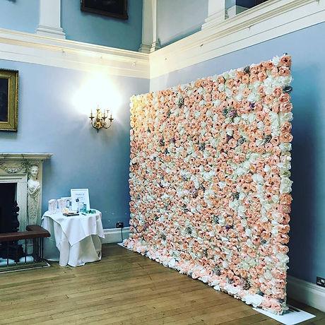 Pink Flower Wall, Mixed Flower Wall - Flower Wall Essex, Flower Wall Herts, Flower Wall London. (Del