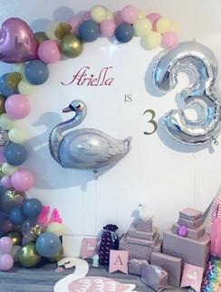 Acrylic Backdrop with Balloon Arch