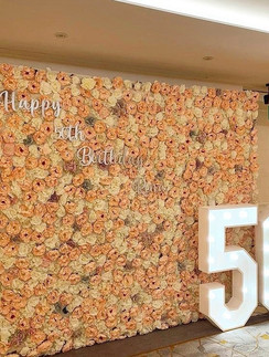 Light Up Numbers and Flowerwall