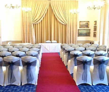 Chair Covers all set at Down Hall, Essex. Chair Covers and sashes, Essex, Herts, London.