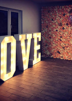 Flowerwall and Light Up Love Letters