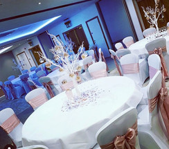 Rose Gold Satin Sash and Chair Covers