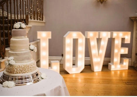 LED Love Letters Essex Event Hire