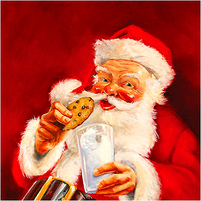 Santa's Milk & Cookies