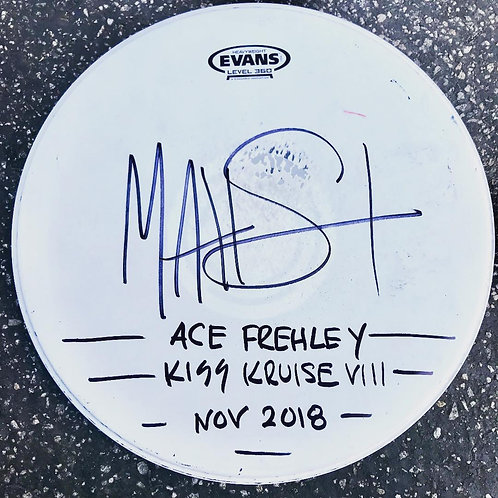 ACE FREHLEY SHOW SIGNED SNARE HEAD