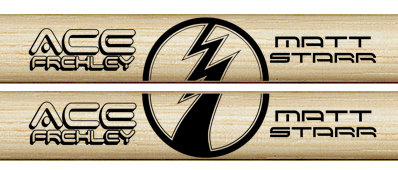 "ACE FREHLEY 2019 ""LIGHTNING BOLT"" STICKS (Pair)"