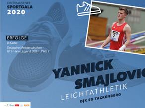 Yannick Smajlovic erhielt Erinnerung an die SPORTgala 2020