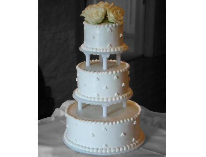 Simple 3 Tiered Wedding Cake