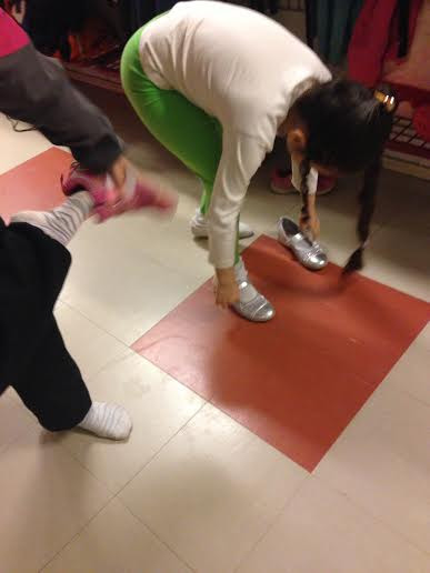 Putting on Shoes for the Recess