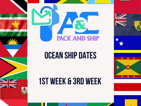Ocean Shipping Dates