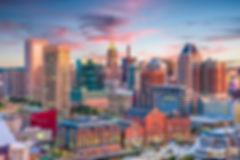 Baltimore, Maryland, USA Skyline over th
