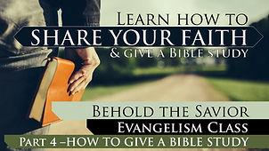4 - Share Your Faith pt 4 Sermon THUMBNA