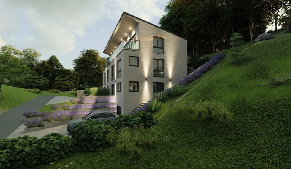 Exterieur Haus der Moderne in Etterzhausen Baufirma DEWO Bau GmbH