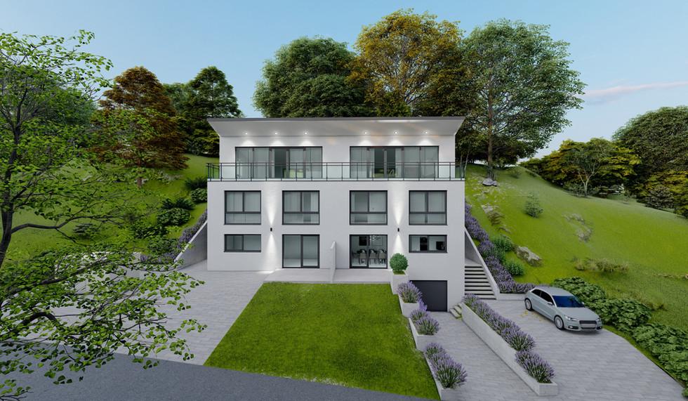 Exterieur Haus der Moderne in Etterzhausen Baufirma