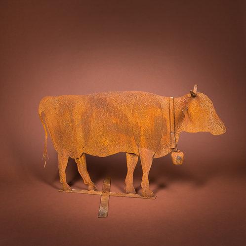 Kuh lebensgross mit Schelle