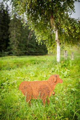 Schaf, Gartenobjekt aus Blech