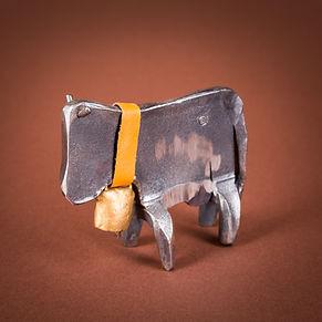 Kuh mit Glocke - Geschmiedete Figuren