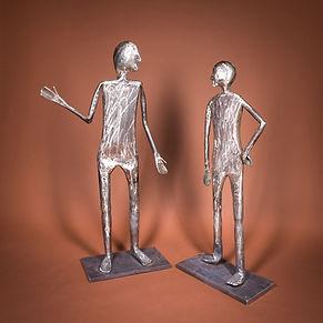 Mensch im Gespräch - Figuren aus Blech