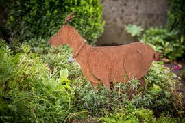 Ziege, Gartenobjekt aus Blech
