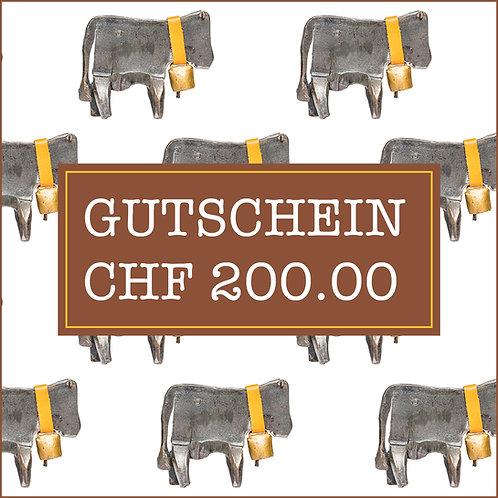 Gutschein CHF 200.00