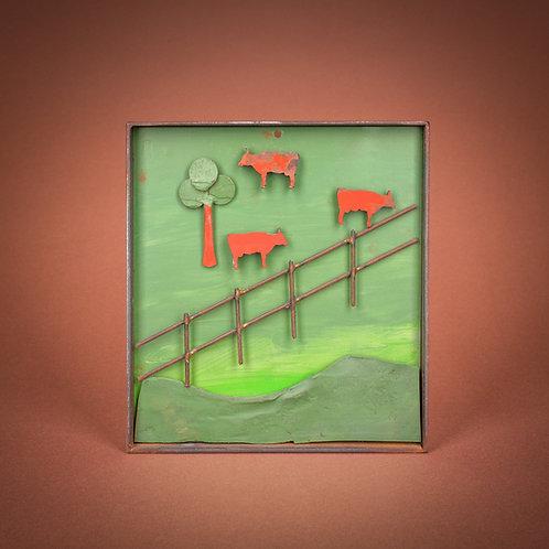 "Bild ""Weidende Kühe Nr. 3"""