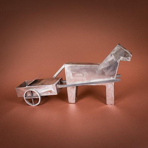 """Pferd mit """"Bschöttitrocke"""""""
