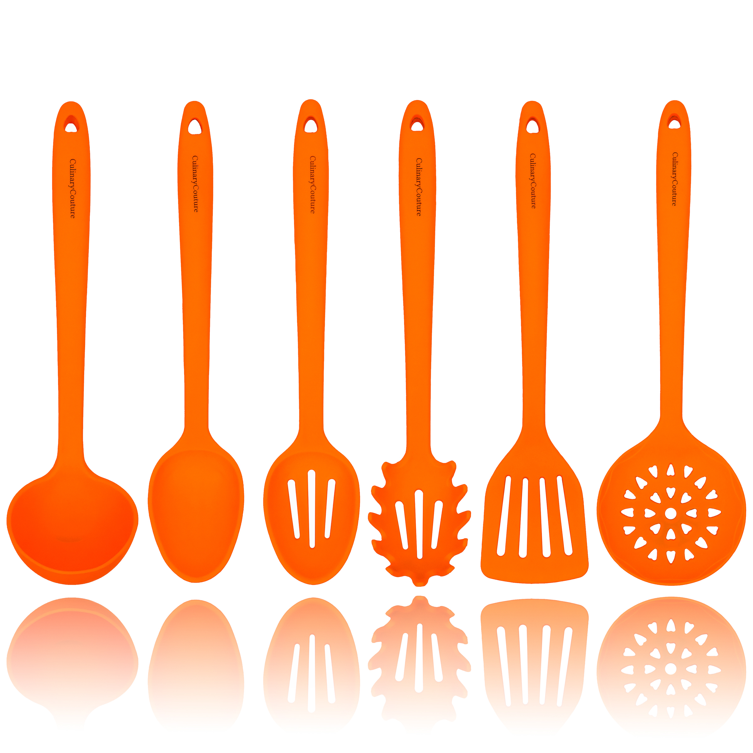 Orange Silicone Cooking Utensils Set