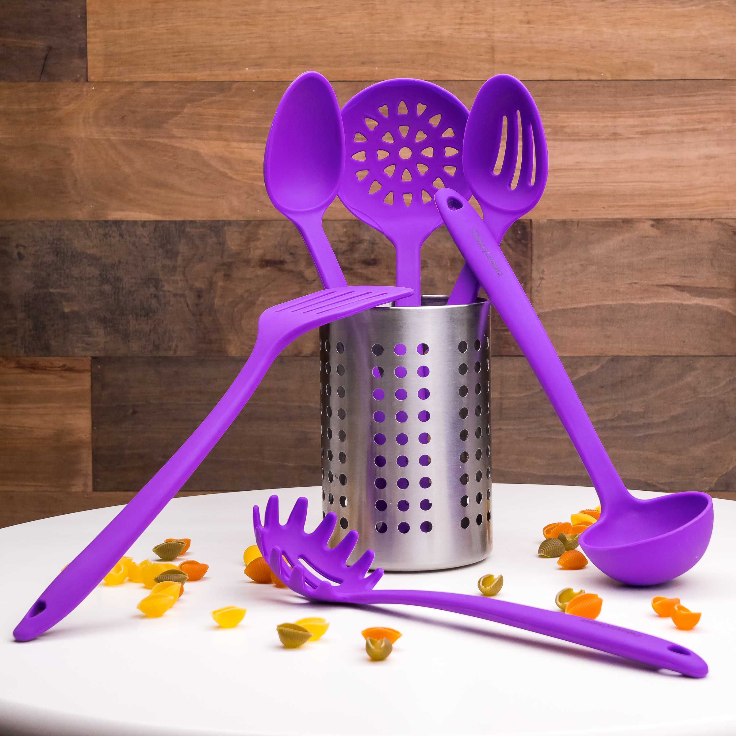 Purple Utensils Set