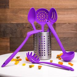 Purple Utensils Set