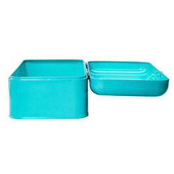 Turquoise Bread Box Side