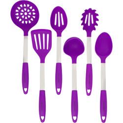 Purple Kitchen Utensil Set
