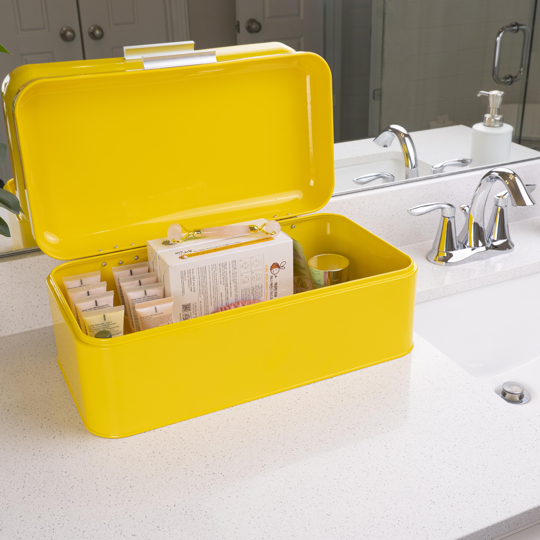 Yellow Bread bin for kitchen