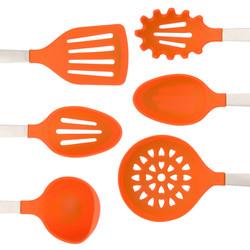 Orange Cooking Utensils Set