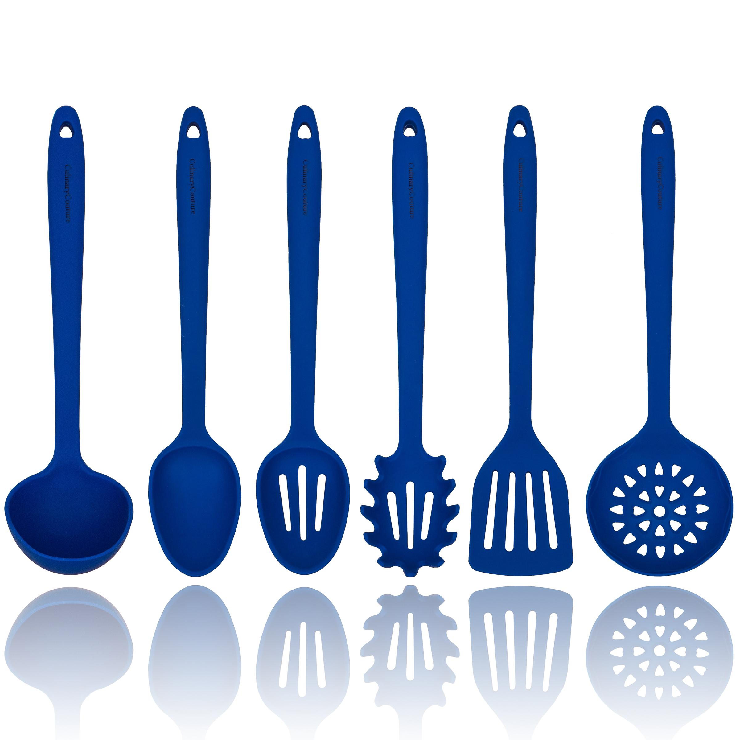 Blue Silicone Cooking Utensils Set