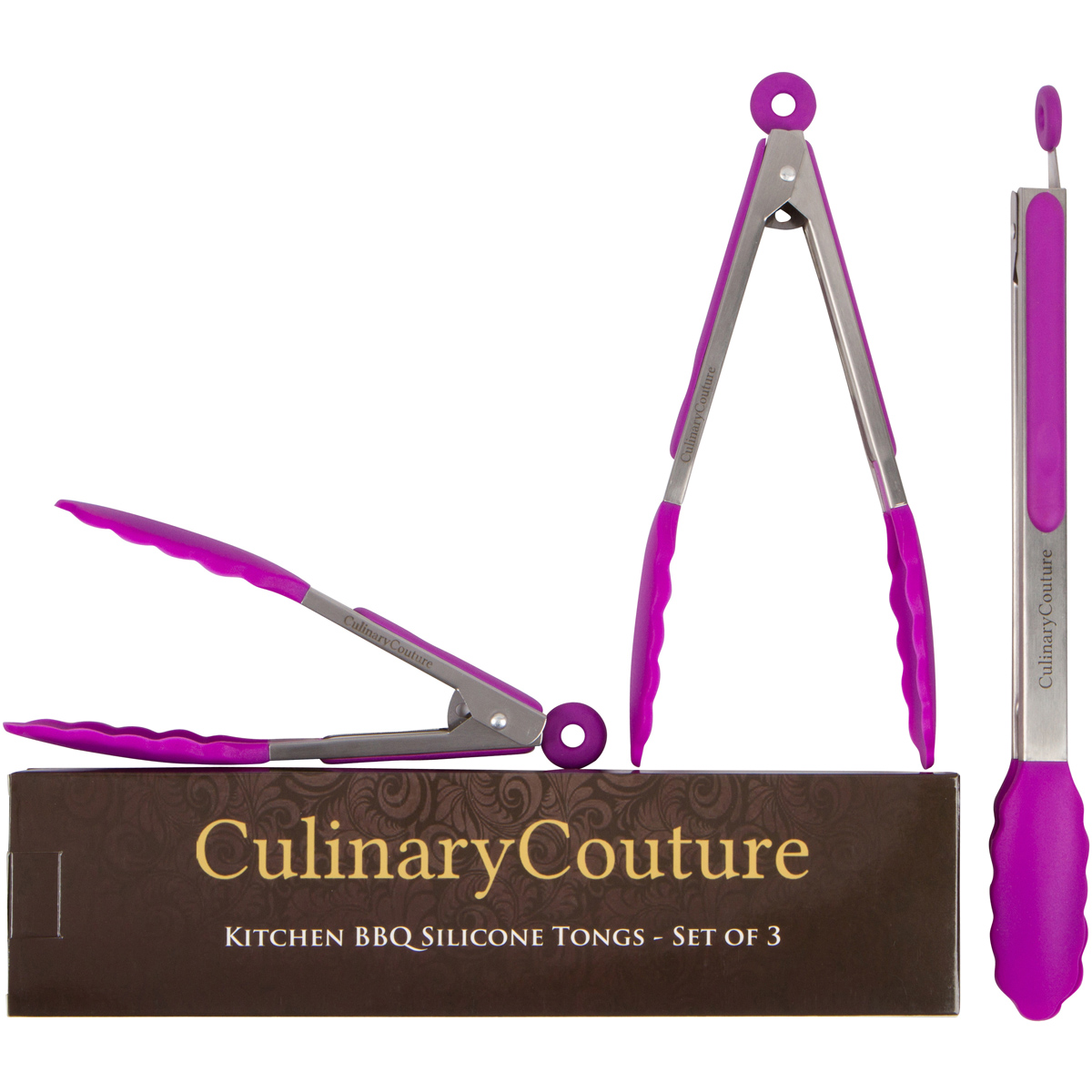 Purple Kitchen Tongs