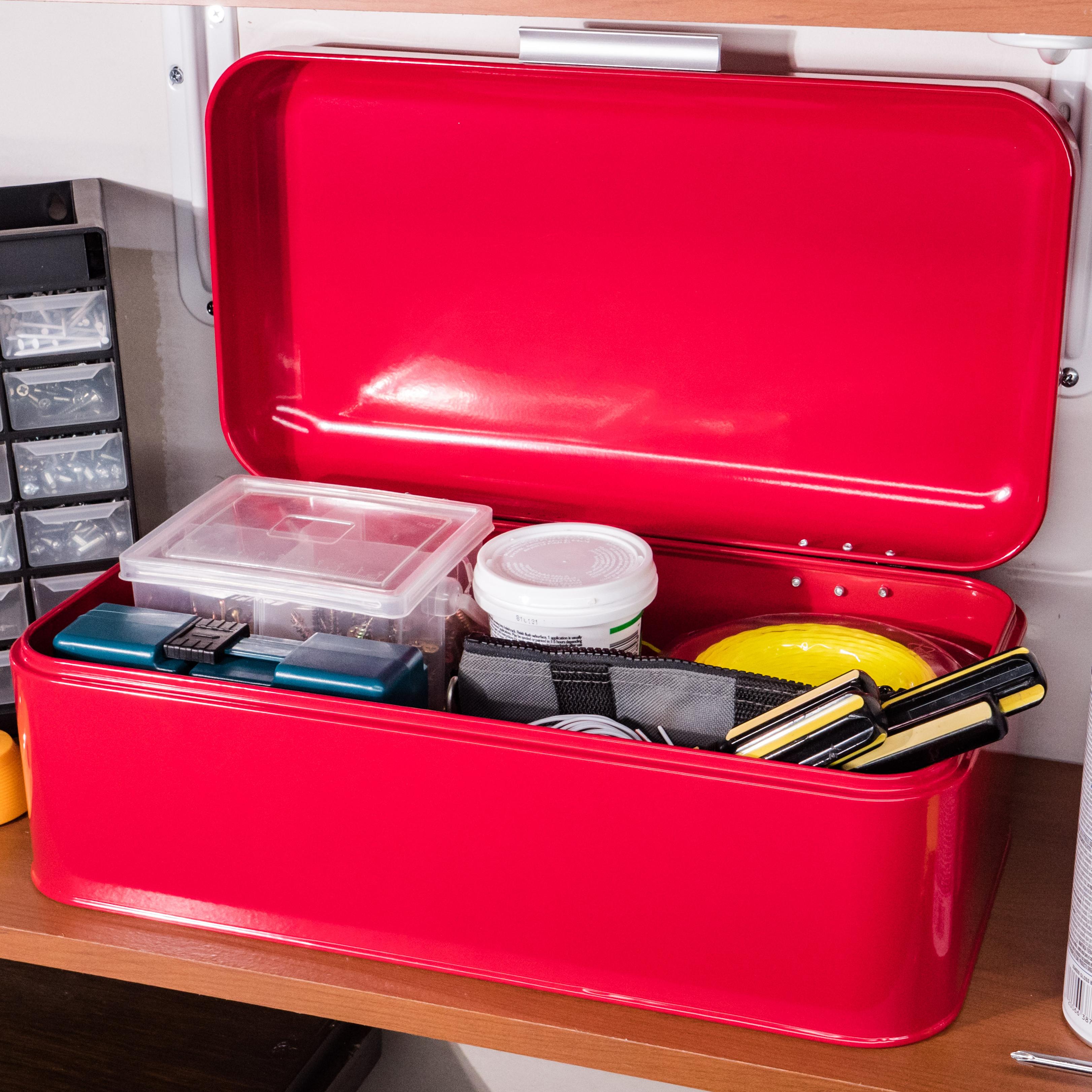 Red Storage Bin