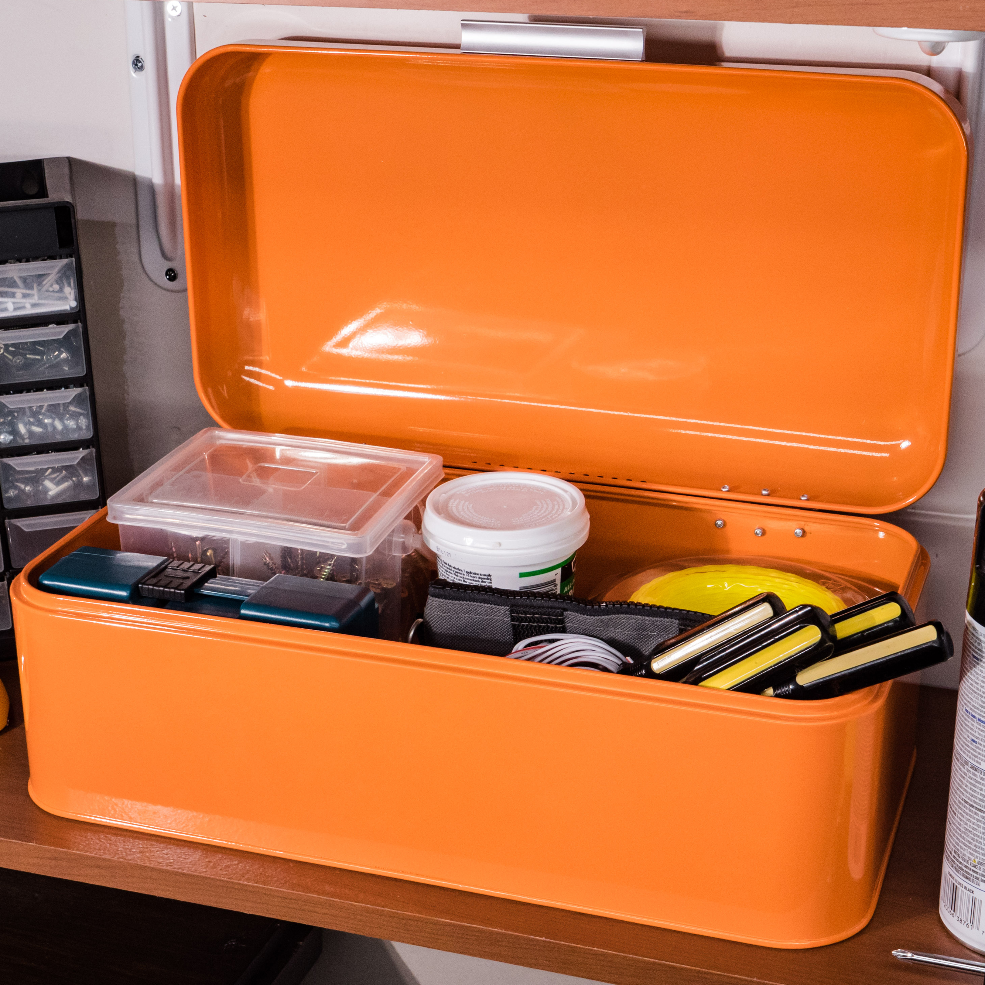 Orange Storage Bin