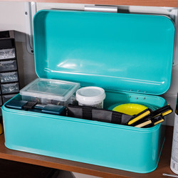 Turquoise Storage Bin