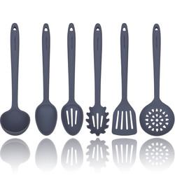 Grey Silicone Cooking Utensils Set