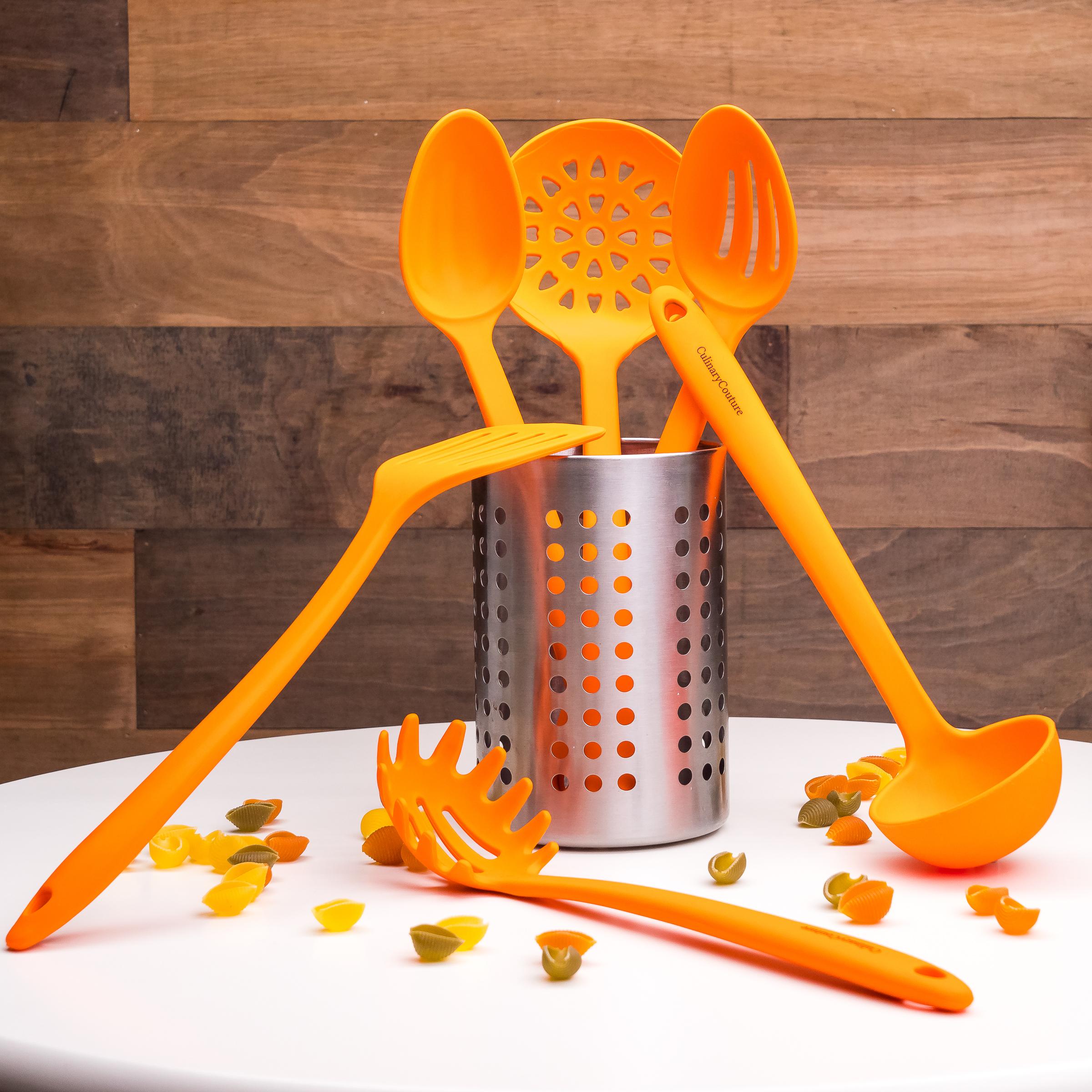 Orange Utensils Set