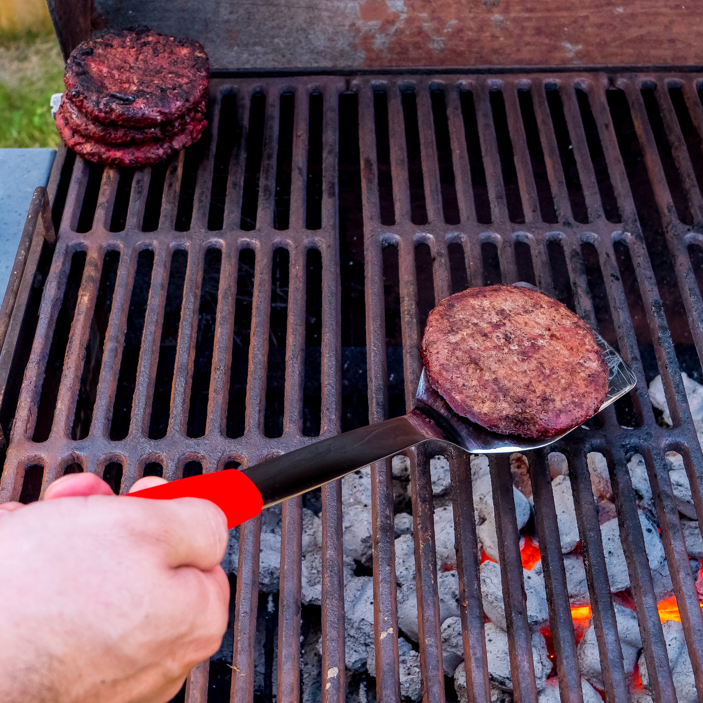 Red BBQ Grill Tools