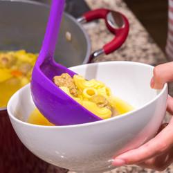 Purple Soup Ladle