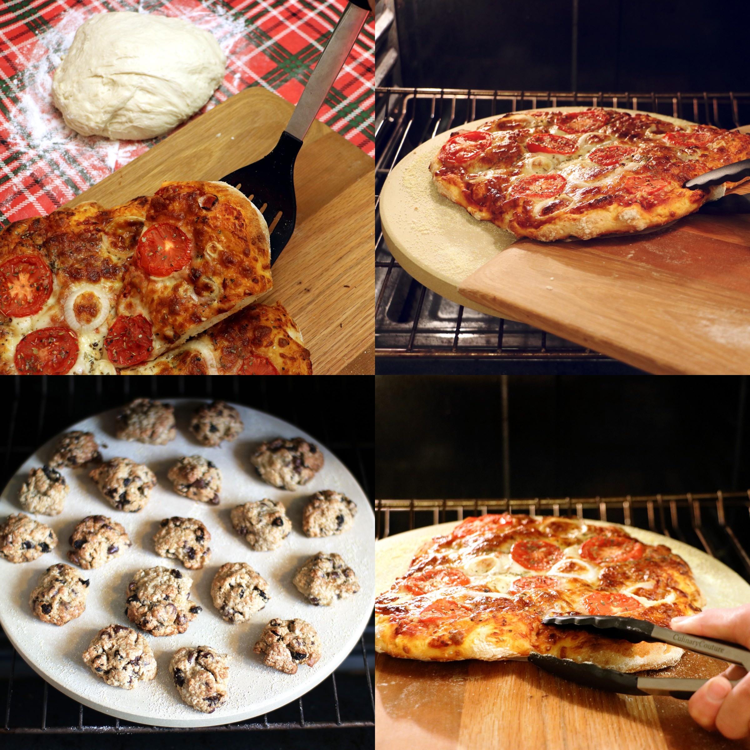 Pizza Utensils Cookies Collage