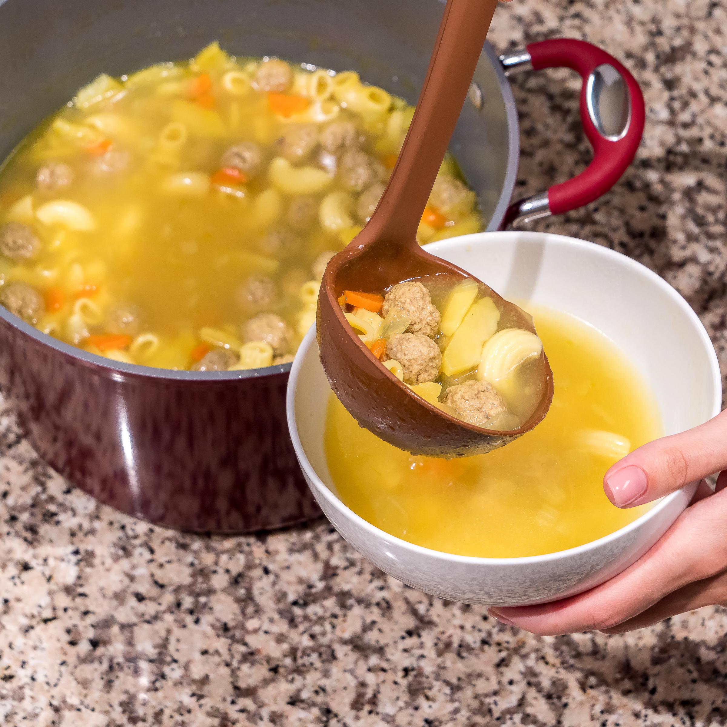 Brown Soup Ladle
