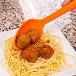 Orange Solid Spoon