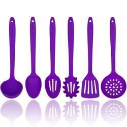 Purple Silicone Cooking Utensils Set
