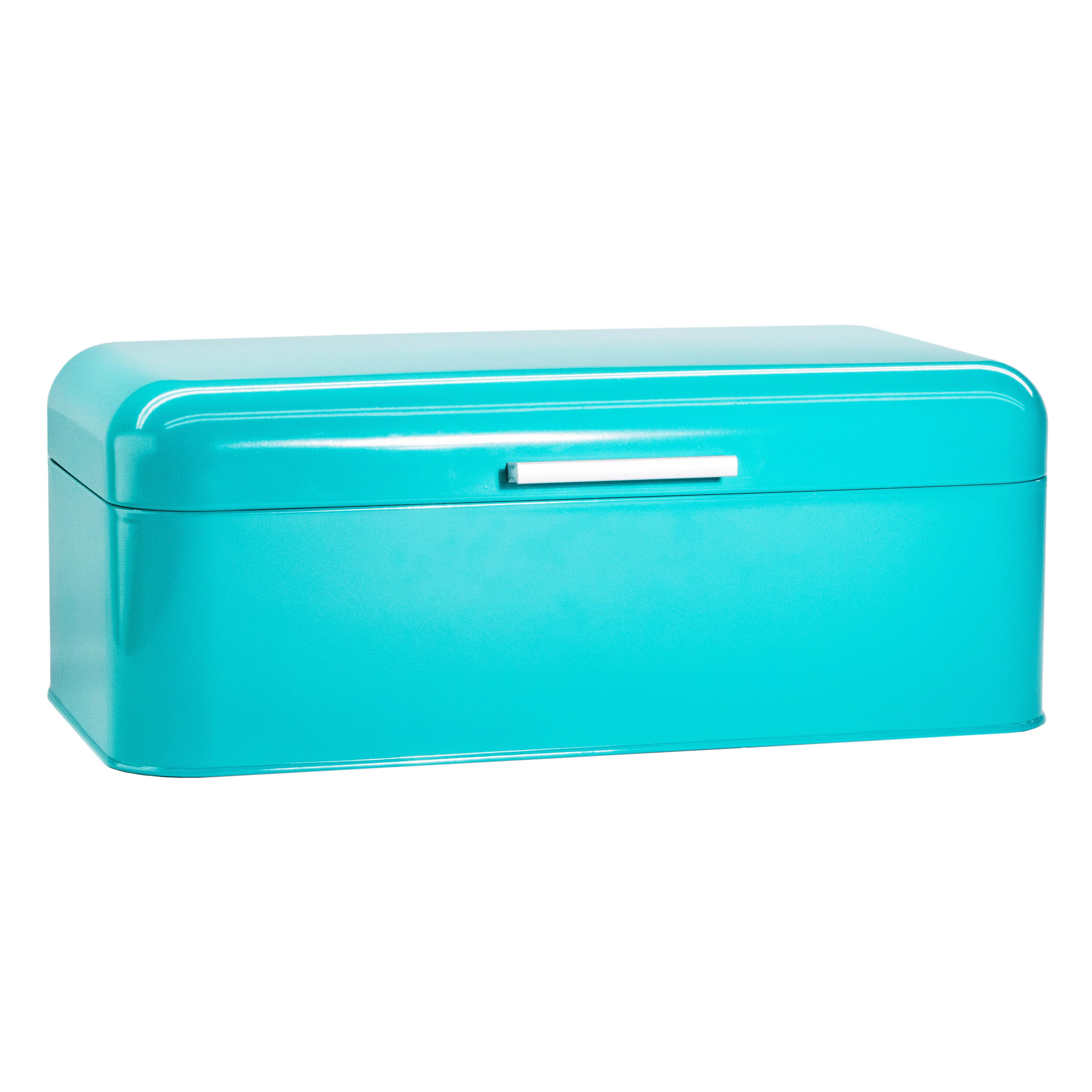 Turquoise Bread Box Bin